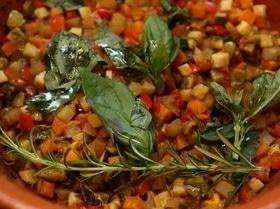 Овощи, томленные в горшочке