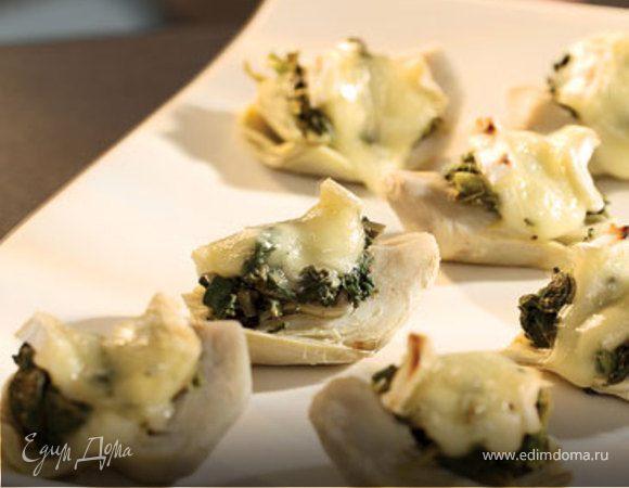 Артишоки и кресс-салат с сыром Бри