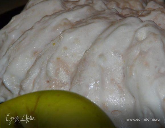 Баварский рисовый пудинг с карамелизироваными грушами