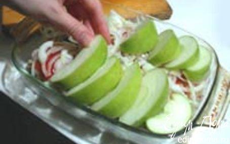 Рецепт Запеченные яблочки с курочкой
