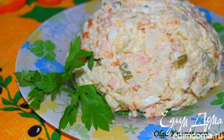 """Рецепт Салат оливье """"Рыбный"""" с копченой горбушей"""