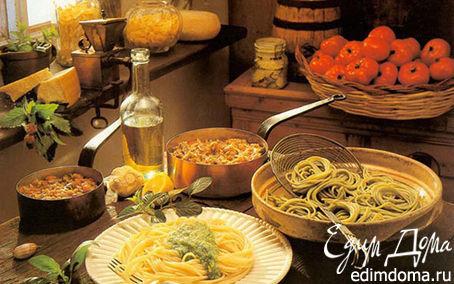 Рецепт Спагетти с творогом и орехами