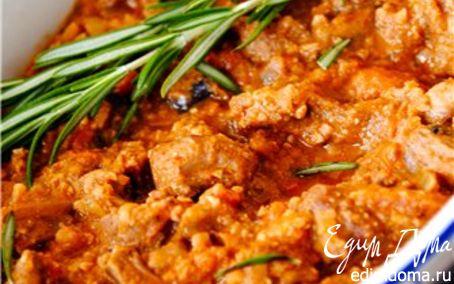 Рецепт Жаркое из свинины с грибами и орехами
