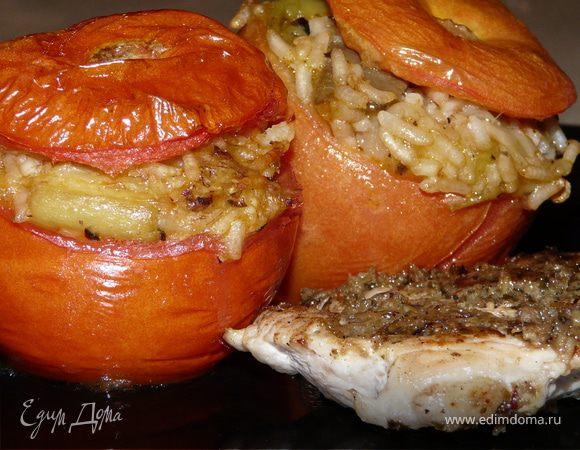 Фаршированые помидоры по-гречески