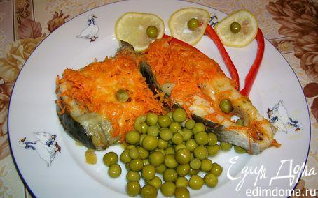 Рецепт Рыба под морковно-сырной шубой