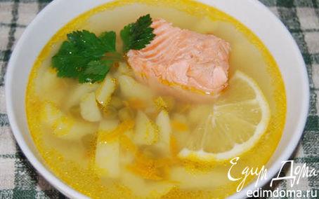 Рецепт Суп из форели с зеленым горошком и помидорами