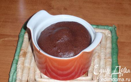 Рецепт Кексик шоколадный с жидкой серединкой.