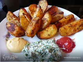 Лунные дольки-печеный хрустящий картофель