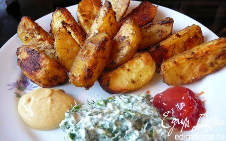 Рецепт Лунные дольки-печеный хрустящий картофель