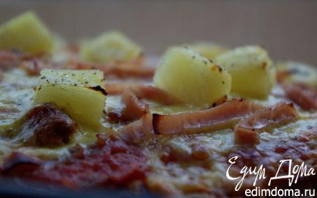 Рецепт Пицца с ветчиной и ананасами