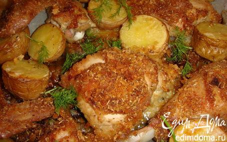 Рецепт Курица и картофель, запеченные с розмарином