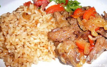 Рецепт Гавайский рис с индюшатиной