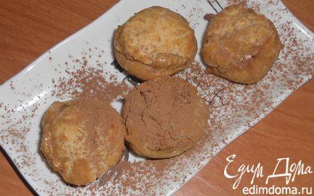 Рецепт Профитроли с кофейно-шоколадным маскарпоне