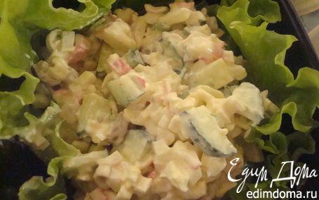 Рецепт Салатик с шампиньоном и крабовыми палочками
