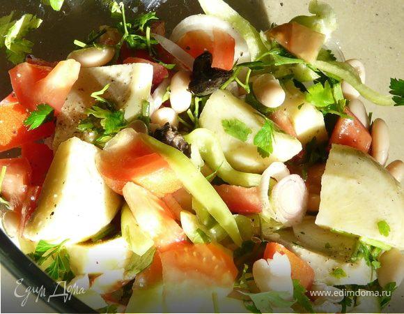 Средиземноморский салат с артишоками