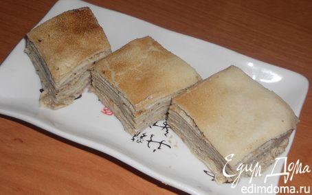Рецепт Блинный пирог с муссом из печени трески