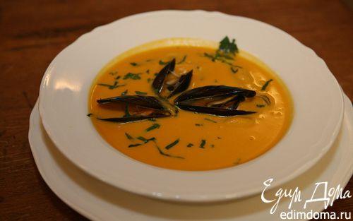 Рецепт Тыквенный суп с мидиями