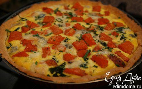 Рецепт Пирог из тыквы с горгонзолой
