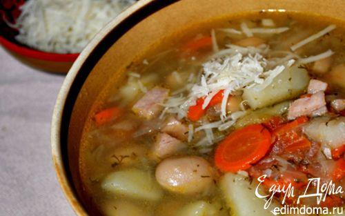 Рецепт Щи с фасолью и копченым мясом