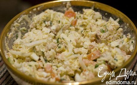 Рецепт Салат с курицей и брынзой