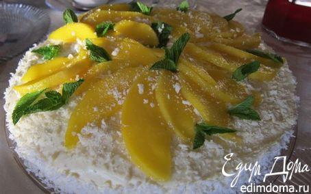 Рецепт Мангово-творожный торт