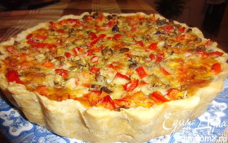 Рецепт Киш с сыром и овощами