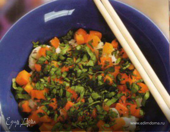 Теплый салат из цветной капусты
