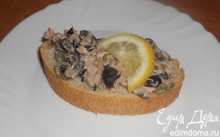 Рецепт Брускета с салатом из тунца