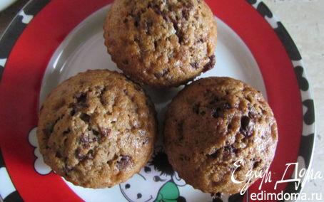 Рецепт Воздушные маффины с шоколадной крошкой