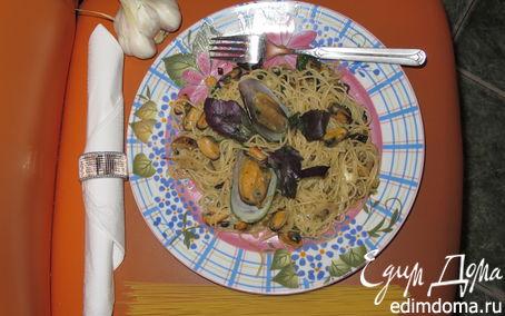 Рецепт Паста с мидиями, баклажанами и базиликом
