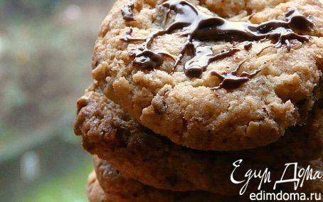 Рецепт Овсяно-шоколадное печенье с соленым арахисом