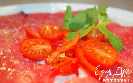Рецепт Карпаччо из тунца с мятой