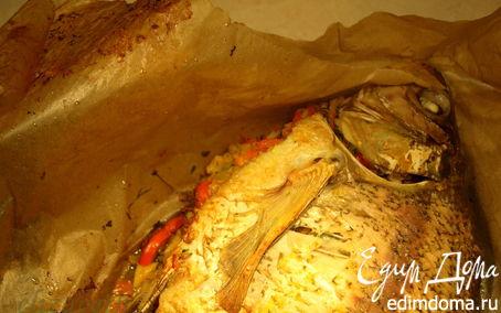 Рецепт Запеченный лещ с рисом и имбирем