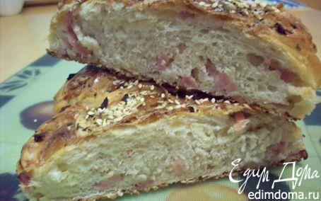 Рецепт Плетенка с ветчиной и сыром