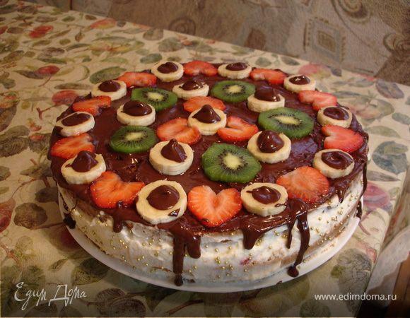 Торт из готовых коржей в домашних условиях с фото
