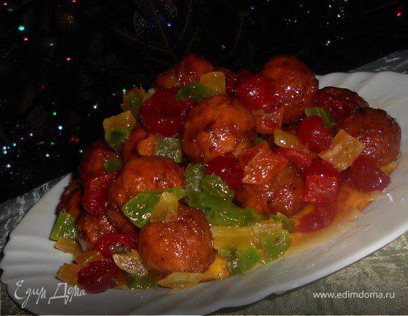 Струффоли, итальянский рождественский десерт