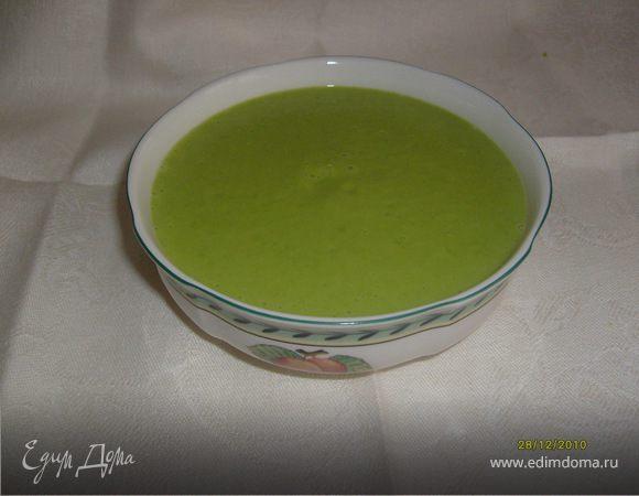 Суп-пюре из зелёного горошка