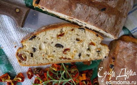 Рецепт + Хлеб с помидорами, оливками и розмарином