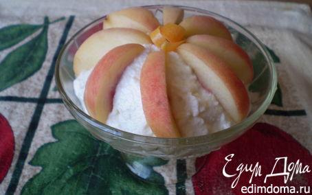 Рецепт Творожок с персиками