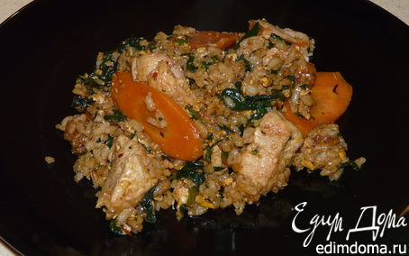 Рецепт Рис с курицей в азиатском стиле
