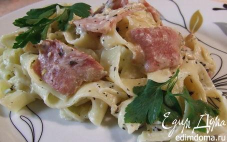 Рецепт Паста с беконом и сливочным соусом