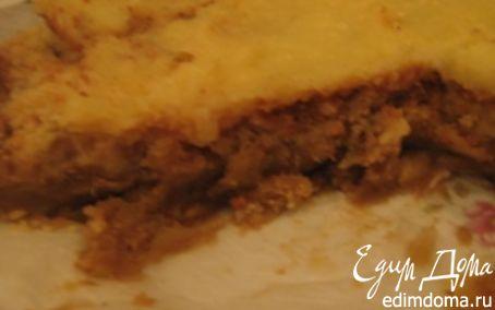 Рецепт Воздушный пирог с яблоками и заварным кремом