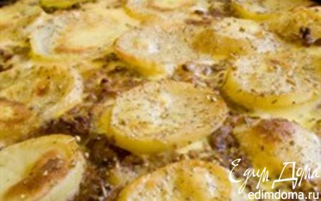 Рецепт Рыба, запеченная в сметане с картофелем