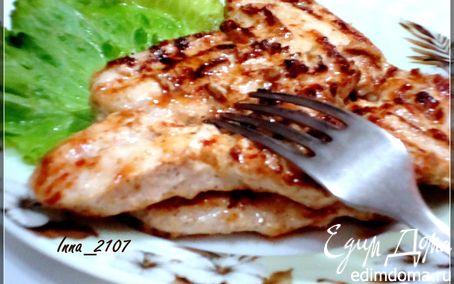 Рецепт Куриная грудка в сметанно-горчичном маринаде