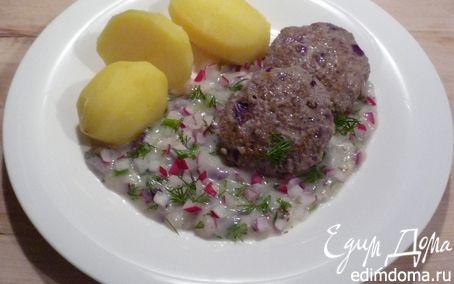 Рецепт Рубленый бифштекс с нежным соусом
