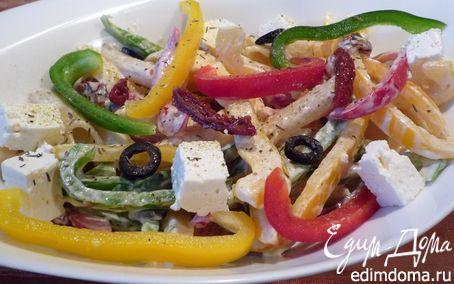 Рецепт Средиземноморский салат с макаронами