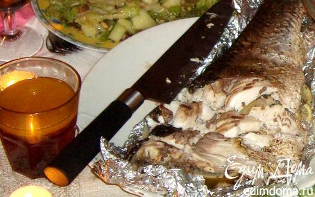 Рецепт Белый амур на гриле со сладким соусом