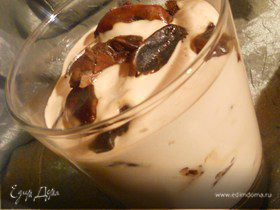 Финики с кофейным кремом