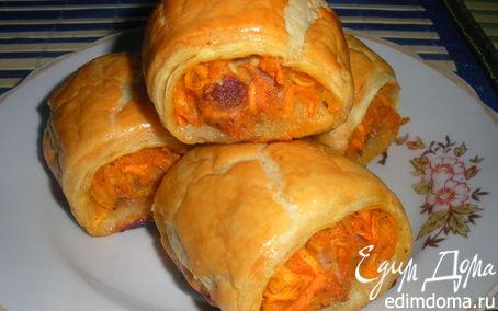 Рецепт Рулетики с мясом и морковкой по-корейски