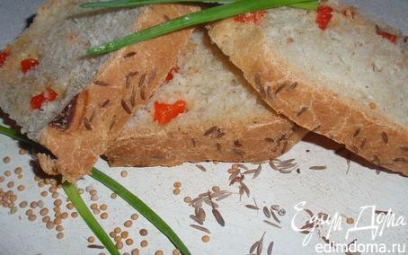 Рецепт Пикантный хлеб с семенами горчицы, болгарским перцем и тмином
